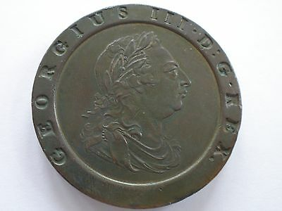 1797 George Iii Cartwheel Twopence - Nef Uk Post Free