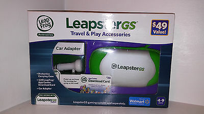 Genuine LeapFrog-CAR CHARGER & CASE for LeapPad/LeapPad2 Leapster & GS