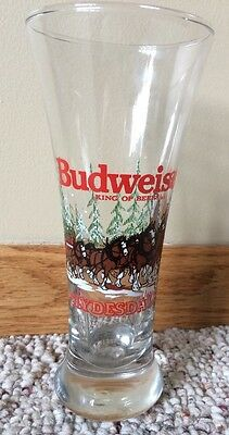 1989 Budweiser Clydesdales Holiday Pilsner Beer Glass Anheuser - Busch