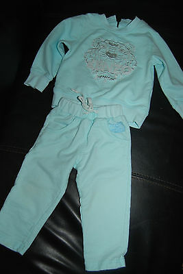 Kenzo baby girl boy blue cotton tracksuit outfit. Sz 12-16 Months