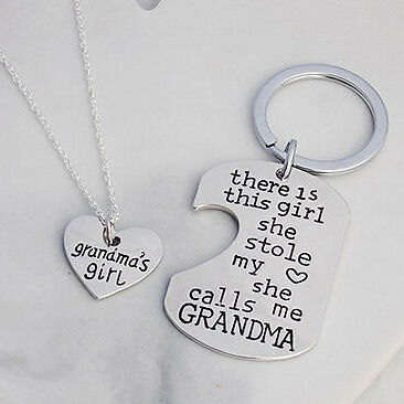 NEW Grandma's girl necklace and keyring gift set Women's by Buena Vida