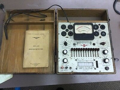 Radio City Products Co Model 808 TV-Radio-CR Tube Tester+VT Voltmeter, Powers On