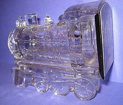 Vintage Clear Glass Locomotive Candy Container