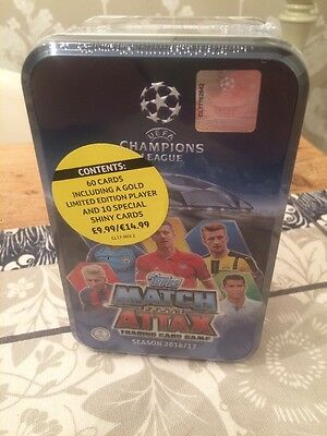 Match Attax UEFA Champions League  Tin 2016/17. 60 Cards. Uk Delivery Ltd Ed