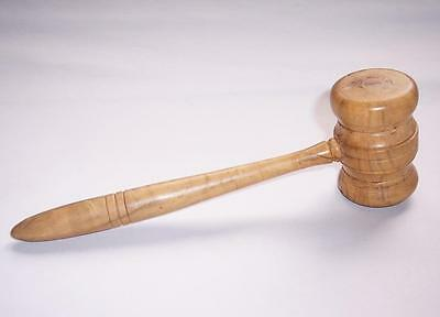 "Antique/Vintage WOODEN AUCTIONEERS GAVEL - Masonic/Best Man - 8"" Long"