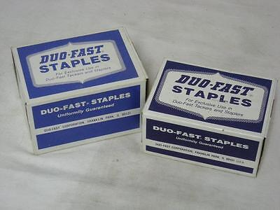 Two Boxes Of Duo-Fast Staples #'s 5012-C And 5016-C