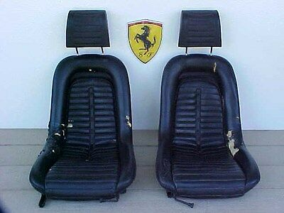 Ferrari Dino 246 Front Seats_Head Rests_Seat Track Adjusters PAIR 206 365 OEM