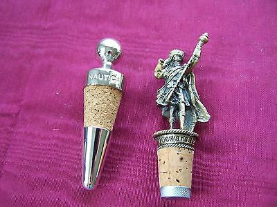 Dewars Scotch and Nautica bottle stoppers