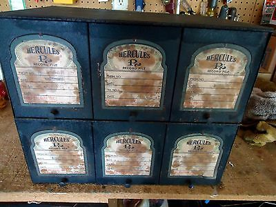 "Vintage  Pharmacy "" Hercules Record File Box,"