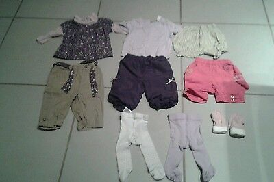 Lot de 19 vêtements fille 3/6 mois