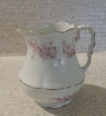 Vintage Z S & Co Bavaria Pink Roses Creamer Small Pitcher ORLEANS Flowers SHABBY