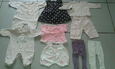 Lot de 30 vêtements fille 3 mois