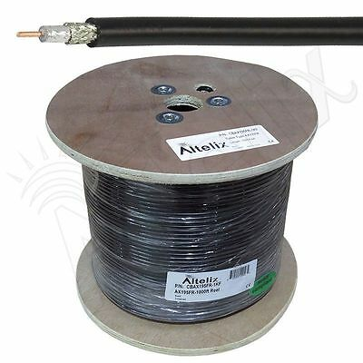 Altelix AX195FR LMR195FR Type Fire Retardant Coaxial Cable 1000 Feet Reel 1K Ft