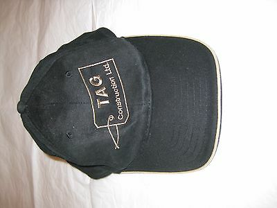 TAG Construction LTD Baseball Adult Hat/Cap(VelcroStrap)-Embroidered Cotton NEW