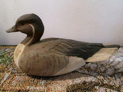 Vintage Pintail Duck Figurine 1985, American Wild Fowl Series, Signed R. Morrow