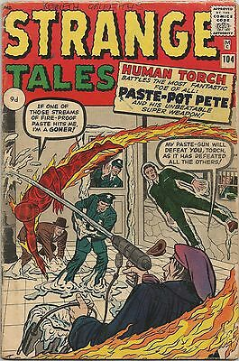 Strange Tales #104. Marvel Jan 1963. Human Torch. Lee, Kirby, Ditko. GD
