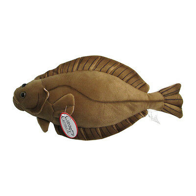 Cabin Critter's Halibut 17 Inch Plush Fish Toy Brown Polyester CC99 Marine Ocean
