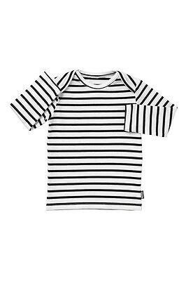 *** BONDS Baby Black & White Striped Stretchies Long Sleeve!! 12-18 months ***