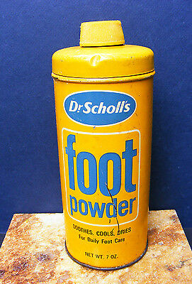 Vintage Dr. Scholl's Foot Powder Tin Dated 1974 Advertising Collectible