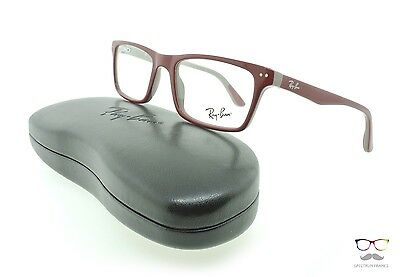 Ray Ban Eyeglasses RB 5288 5178 Dark Red / Grey 50mm Rectangular Authentic