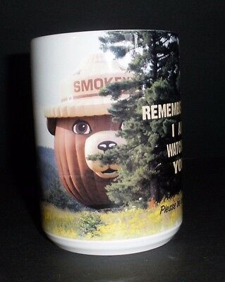"Smokey Bear Balloon Ceramic Mug--New!!  ""Remember....Going to Greater Heights"""