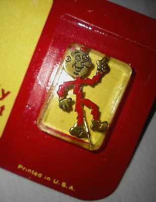 Vintage 1955 RED ENAMEL REDDY KILOWATT ELECTRIC ENERGY LAPEL PIN MARKED M.R.