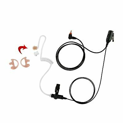Earmold with 1-Wire Clear Coil Surveillance for Motorola SL7580 SL7550 SL1M