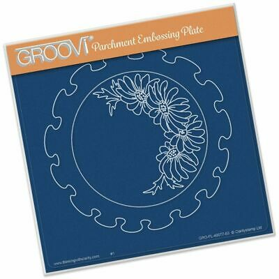 Claritystamp Frilly Circles Groovi Parchment Embossing Plate A5 GRO-FL-40077-03