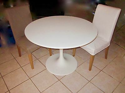 Ikea docksta round dining table with two chairs aud 90 for Docksta dining table