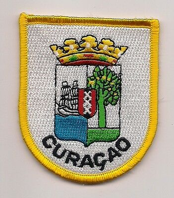 Country Of Curacao Souvenir Coat Of Arms Patch