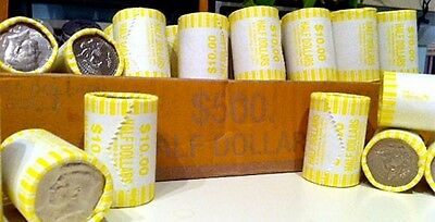 5 Unsearched Bank Sealed Half Dollar Rolls Possible 40% 90% Kennedy Franklin