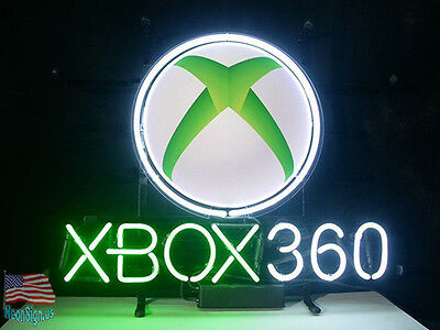 "XBOX 360 Pub Bar Game Room Neon Sign 20""x16"" From USA"