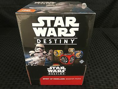 Star Wars Destiny Spirit of Rebellion Booster Box *Sealed In Hand