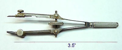 Vtg K&e Antique Small Drafting Compass Paragon  Keufell & Esser Made In Germany