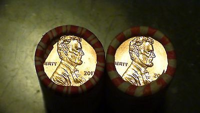 2017 - P & D Lincoln Shield Cent 2 Roll Set UNSEARCHED / SEALED (2 ROLLS)1c #20