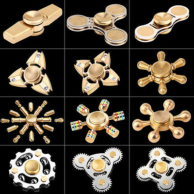 3D Fidget Hand Spinner Finger EDC Focus Stress Reliever Toy For Kids Adults Gift
