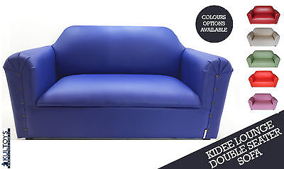 Double SEATER LEATHER KIDDEE LOUNGE Kids SOFA available in 7 Colours