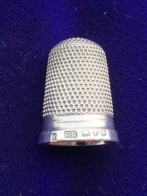 Charles Horner Solid Silver Thimble - Chester - 1903