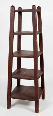 ARTS AND CRAFTS FIVE-TIERED BOOKSHELF / PLANT STAND Lot 524