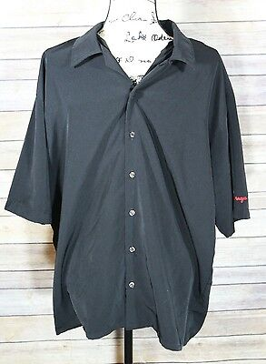 Stolichnaya Black Short Sleeve Bartender's Shirt Men's Large