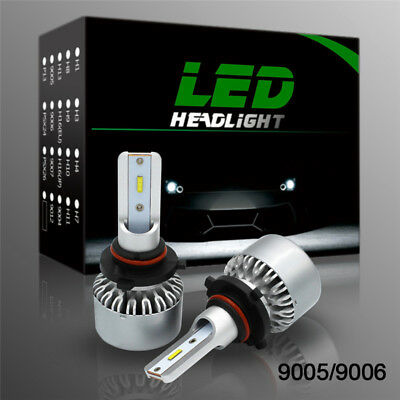 Pair 9005 HB3 H10 9140 9145 6000K Bulbs 4000LM 60W CSP Car LED Headlight Kit