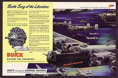 1940's WWII WW2 Vintage Consolidated Liberator Airplane Plane Art Print Ad