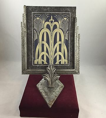 GENUINE EARLY 1930s QUALITY ART DECO METAL STEPPED PHOTO FRAME