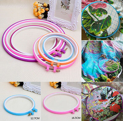 Plastic Handy Cross Stitch Machine Embroidery Hoop Ring Sewing Tool High Quality