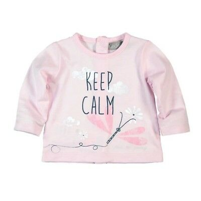 Bóboli Girls Baby Long Sleeve Shirt Keep calm pink sz. 56 62 68 74 80 86 92