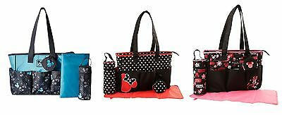 Disney Mickey Minnie Mouse 4 pcs Large Baby Diaper Bag Pacifier Pouch Bottle Bag