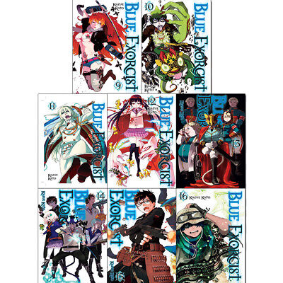Blue Exorcist Series Vol (9 to 16) Collection Kazue Kato 8 Books Set Pack NEW UK