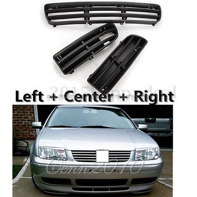 Front Bumper Lower Grille Grill Left Center Right For Vw Bora  Jetta 1999-2004