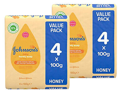 2x Johnsons baby soap Honey with baby lotion 4 pack