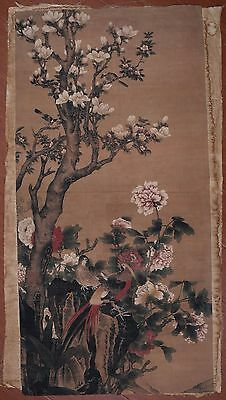 Large Vivid Chinese Vintage Handwork Landscape Painting Collectible PP838